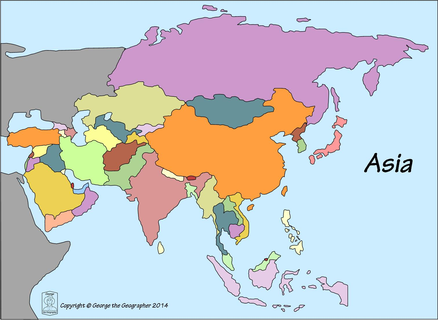 Africa Map No Color All Countries Named