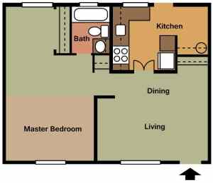 1 Bed / 1 Bath / 700 sq ft / Availability: Not Available / Security Deposit: $350 / Rent: $595