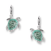 "NICOLE BARR ""SEA TURTLE"" EARRINGS"