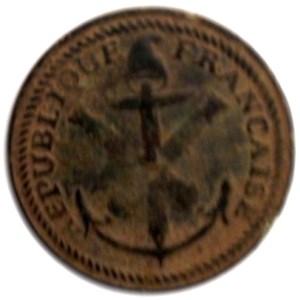 1795-1803 French Marine Artillery Found by Bill near estido island South Carolina RJ Silverstein's georgewashingtoninauguralbuttons.com O