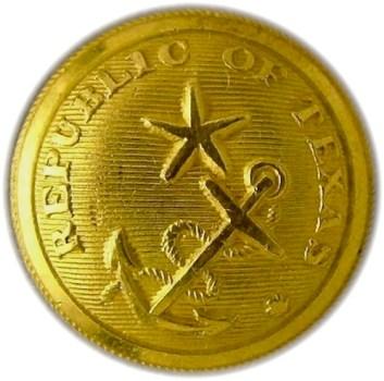 1830's Republic of Texas TX 1 RJ Silverstein's georgewashingtoninauguralbuttons.com O