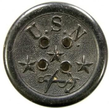 1851 Federal Navy 35mm Hard Rubber NA 137 RJ Silverstein's georgewashingtoninauguralbuttons.com O