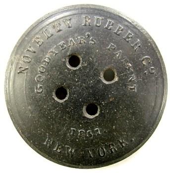 1851 Federal Navy 35mm Hard Rubber NA 137 RJ Silverstein's georgewashingtoninauguralbuttons.com R
