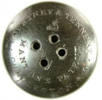 Confederate Navy 33mm Hard Rubber georgewashingtoninauguralbuttons.com R