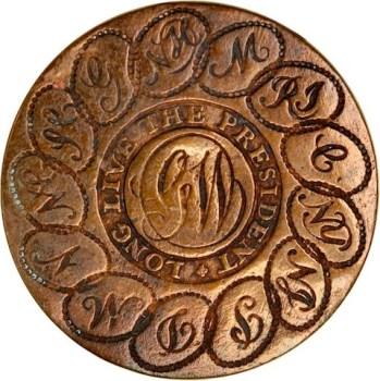 WI 4-A-39 rj silverstein's georgewashingtoninauguralbuttons.com o