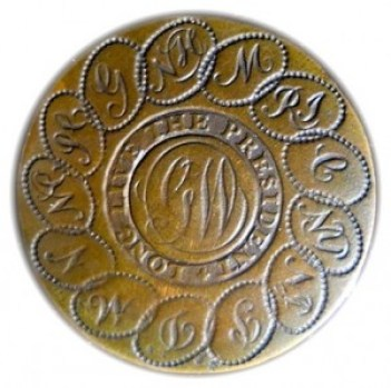 WI 4-A -40 rj silverstein's georgewashingtoninauguralbuttons.com o
