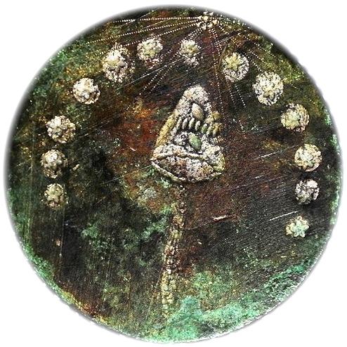 1775 Meroviginan Liberty Button rj silverstein's georgewashingtoninauguralbutton O