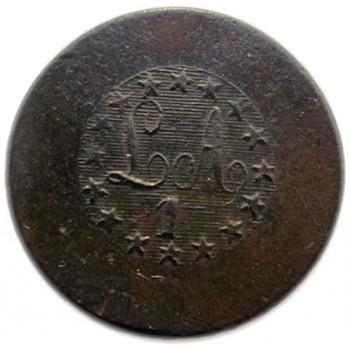 1808-21 Light Artillery 1st Reg. AY 43-CV.1 20.58m georgewashingtoninauguralbuttons.com O1