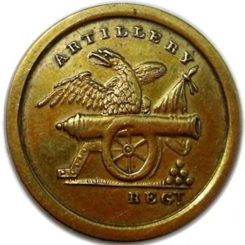 1820-30's Artillery Militia Brass 22mm. rj silverstein's georgewashingtoninauguralbuttons.com O