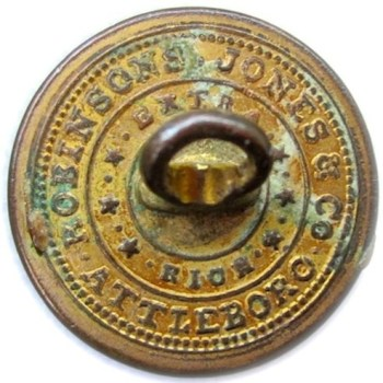 1828-34 Federal Artillery Militia Brass 22mm. AY57-B rj silverstein's georgewashingtoninauguralbuttons.com r
