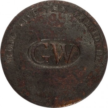 GWI 11-A 34mm Copper Orig shank HA Auctions April 2015 georgewashingtoninauguralbuttons.com A 46
