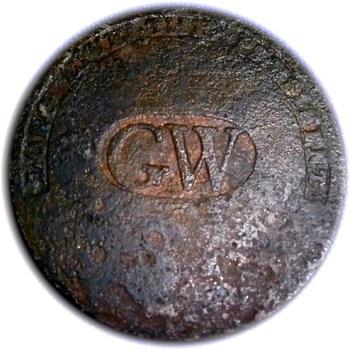 WI 11-A 34mm brass rj silverstein's georgewashingtoninauguralbuttons.com A-30 R