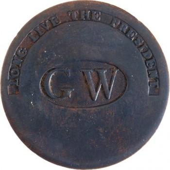 WI 11-C 34mm Brass RJ Silverstein's georgewashingtoninauguralbuttons.com C-22