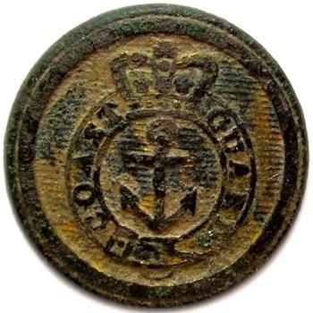 1770-1820 Her Majesty's Coast Gaurd 19mm rj silverstein's georgewashingtoninauguralbuttons.com O