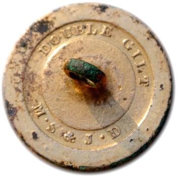 1786-95 British Navy Button dug on Farmland in Netherlands Gilt Brass georgewashingtoninauguralbuttons.com R