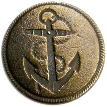 1790-1820 British Marines 22.53mm brass No Shank georgewashingtoninauguralbuttons.com O
