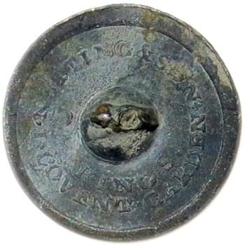 1790-1820 Royal Marines 22.75mm Brass No Shank Dug Around Lake Erie georgewashingtoninauguralbuttons.com R