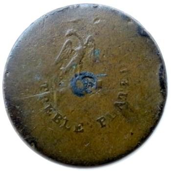 1808-12 U.S. ARMY Infantry Officer 23mm Sheffield Silver Plated Copper Albert's GI 53R2 rj silverstein georgewashingtoninauguralbuttons.com R