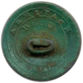 1810-20 U.S. Infantry Officers 21.78mm Silvered Copper Dug Orig. Bent Shank Albert's GI 51-G RV 50 B:M Armitage Phila RJ Silverstein's georgewashingtoninauguralbuttons.com R