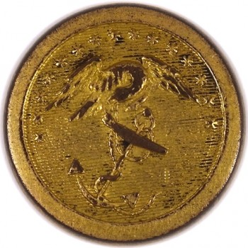 1812-15 Marines 23mm Gilt Brass MC 4 Orig Shank Unlisted B-M georgewashingtoninauguralbuttons.com O