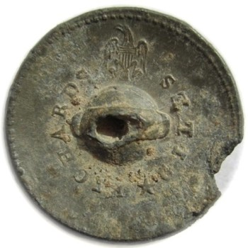 1812-15 U.S. Infantry Pewter 22mm Convex Alberts GI 40-B Paid $105. 10-06-12 R