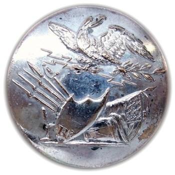 1812 US Infantry GI-51 I Silvered Brass rj silverstein georgewashingtoninauguralbuttons.com o