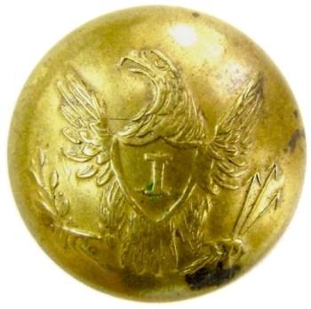 1830-40's Federal Infantry 20mm brass georgewashingtoninauguralbuttons.com O