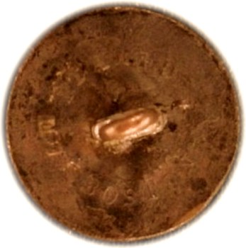 1830-40's navy button NA 21 repl. shank georgewashingtoninauguralbuttons.com r