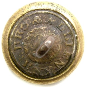 1840s -50s New York 12th Regiment Independence Guard New York City 13.4mm Gilt Brass Tice NY228 As1.1 PD $100. 05-07-12 R