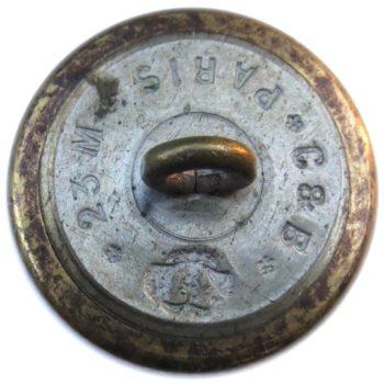 1850-60's Official Diplotatic Service 22.99 Gilt Brass 2-Piece W: Cut-out Applied Device Albert's OD 18 RJ Silversteins georgewashingtoninauguralbuttons.com RB