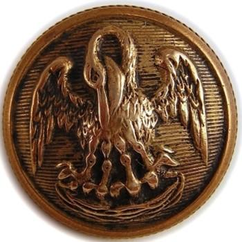 1860 Louisiana 22mm Gilt Brass LA 203A.3 - LA 2 A.2 RJ Silversteins georgewashingtoninauguralbuttons.com O