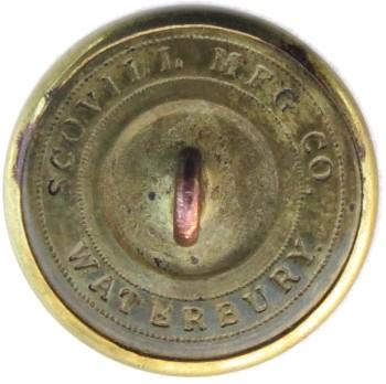 1860's Alabama Mobil Cadets 24.08mm Gilt Brass Orig Shank Tice AB252A.1 : Albert AB6A RJ Silversteins Georgewashingtoninauguralbuttons.com R