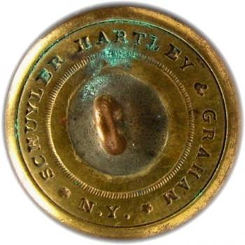1860's Federal Engineers 22.7mm Gilt Brass Albert EG6G Tice EG215 F.Unlisted RJ Silversteins georgewashingtoninauguralbuttons.com R