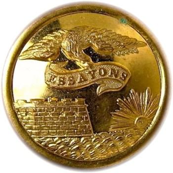 1860's Federal Engineers 23.1mm Gilt Brass Albert EG6 Tice EG215G.1 RJ Silversteins georgewashingtoninauguralbuttons.com O