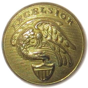 1860's NEW YORK NATIONAL GUARD 14.02mm BRASS 2-PIECE (Prob. Steele & Johson Made) Albert NY 18 Unl. B:M TICE NY 208AS.2 PD $35.00 4-4-13 O