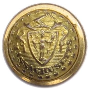 1860's-Post Massachusetts Militia Independent Corps of Cadets 23.23mm Gilt Brass Tice MS 202Cs.1 : Albert MS 30 Georgewashingtoninauguralbuttons.com O