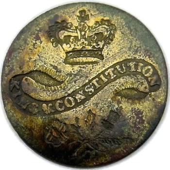 King & Constitution 35mm Gold Wash RJ Silverstein's Georgewashingtoninauguralbuttons LLTK-2