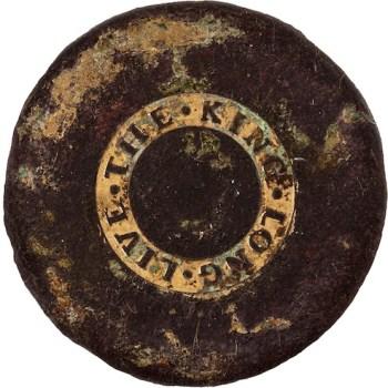 Long Live The King 34mm Gilt brass no shank HA Auctions $538 rj silverstein's georgewashingtoninauguralbuttons LLTK-5