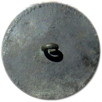 Silvered Copper 63 INDENTS R-2 1789 GW INAUGURAL BUTTON ORIG. SHANK RJ Silverstein's georgewashingtoninauguralbuttons.com R
