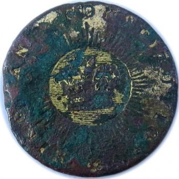 WI KING & CONSTITUTION 24.86mm Gilt Brass Orig Shank PD $10. 08-27-15 georgewashingtoninauguaralbuttons.com O