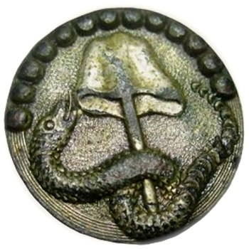 1780-90's Rattlesnake 25mm Silver Wash, Dug VA o