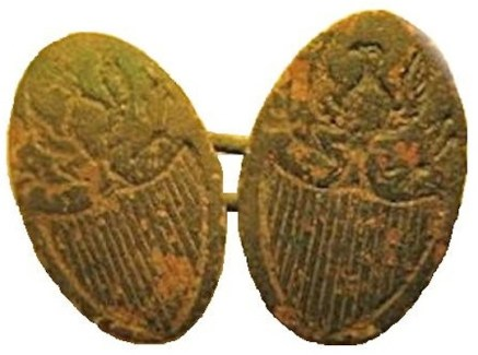 1793-95 Liberty and Security Cuff Links. rj silversteins georgewashingtoninauguralbuttons.com R