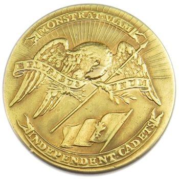 1816 Massachusetts Independence Corps of Cadets 24.58mm Gilt Brass Albert's MS 60 RV 35 RJ Silversteins georgewashingtoninauguralbuttons.com O