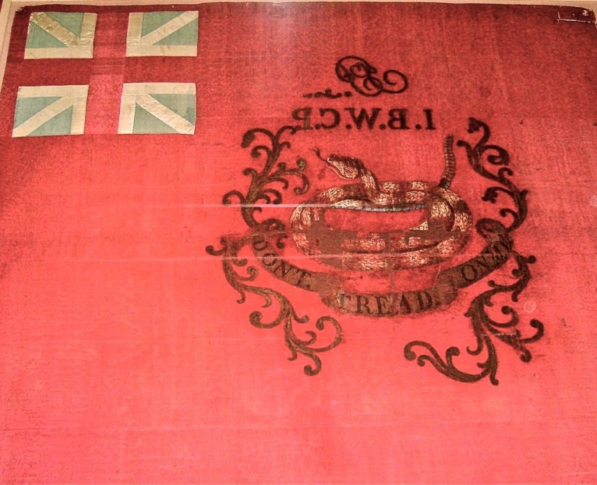 Rattlesnake Flag of Colonel John Proctor's 1st Battalion West Moreland County, PA O