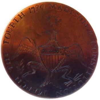 1801 Madison New Nation Tribute Button rj silversteins georgewashingtoninauguralbuttons.com 2