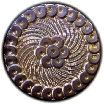 1775 General Button 29mm Gilt Brass Round Disk Border O