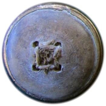 1775 General Button 30mm Copper Swirl Plain Flat thick Border R