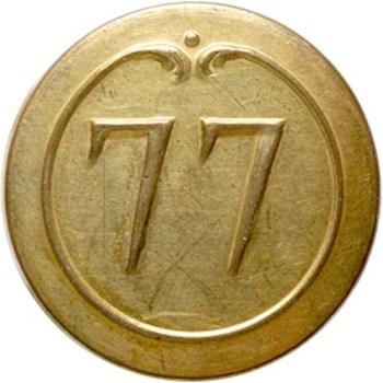 1780 French Regimental uniform button non dug 26mmRJ Silverstein's georgewashingtoninauguralbuttons.com