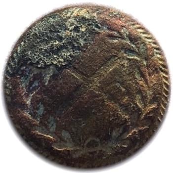 1812 British Generals Cuff Button 17.14mm Orig Shank Georgewashingtoninauguralbuttons.com O
