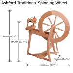 Ashford Traditional Spinning Wheel Double Drive Natural George Weil